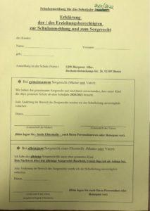 Müssen Beide Elternteile Bei Schulanmeldung Unterschreiben